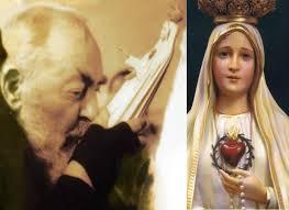 """""""Vorrei avere una voce sì forte per invitare i peccatori di tutto il mondo ad amare la Madonna. Ma poiché ciò non è in mio potere, ho pregato, e pregherò il mio angiolino a compiere per me questo ufficio."""" (San Pio da Pietrelcina)"""